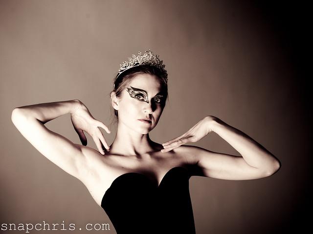 beautiful black swan dancer