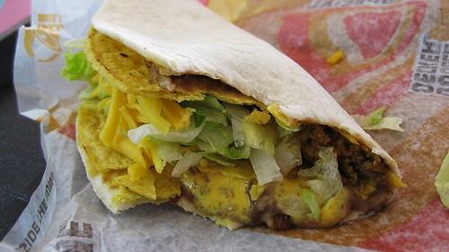 cheesy double decker taco
