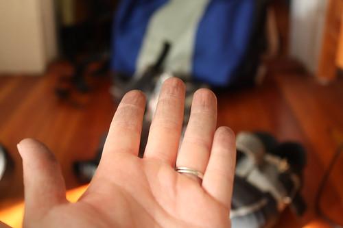 flat tire hands