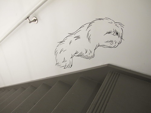 The creature on the stairs.