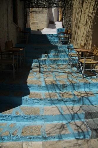 Coloured steps, Symi