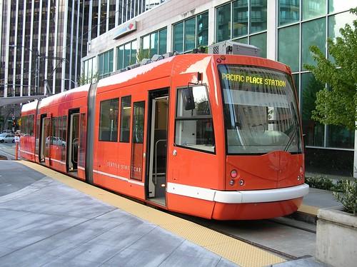 Red streetcar