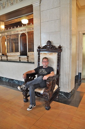 RetroRoadhusband in the Big Chair At The Brown Hotel Louisville KY