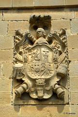 Escudo de armas en una fachada de Pitillas, Navarra