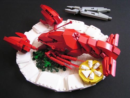 LEGO lobster Sven Junga