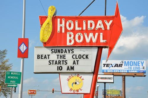 Holiday Bowl Vintage Sign Texarkana AK