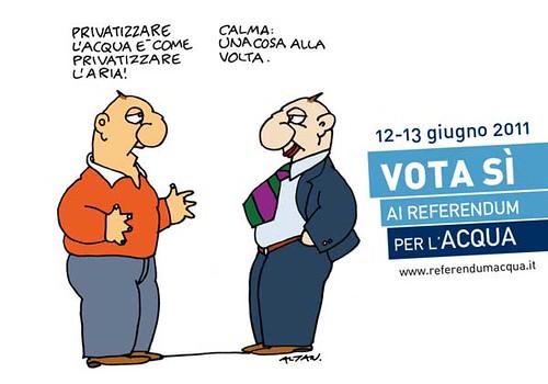 """foto """"Adesivo ALTAN per la campagna referendaria"""" by """"Referendum Acqua 2011 - Foto""""  - flickr"""