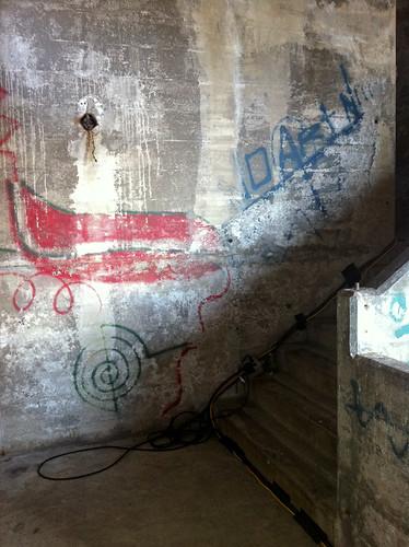 Secret Stairway under Burrard Bridge - old graffiti