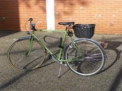 bici verde al Sol