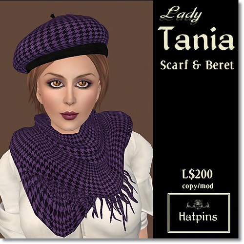 Hatpins - Lady Tania Scarf and Beret - Sixty Linden Weekend