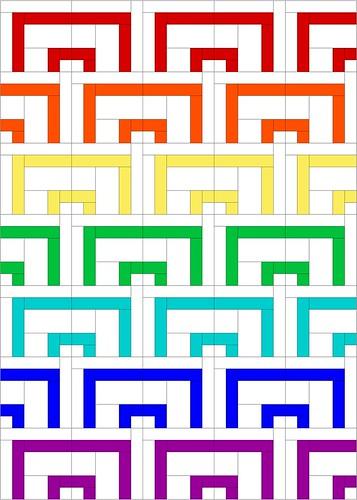 gift box white rainbow
