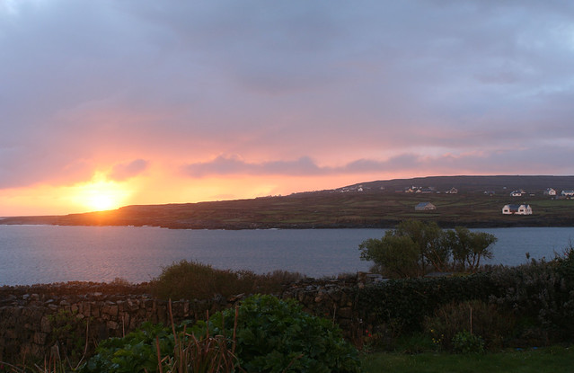 sunrise on Inis Mor