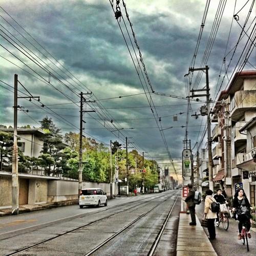 (^o^)ノ < おはよー! 今朝のワンカットは、あの電停です。 #Kitabatake #morning