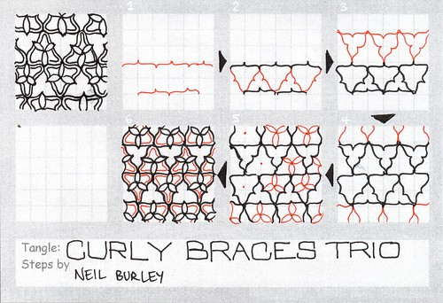 Curly Braces Trio - tangle pattern by perfectly4med