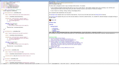 Emacs environment for developing Firefox add-ons using Add-on SDK (Jetpack)