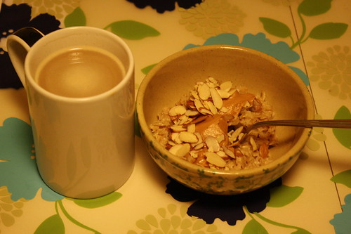 coffee, oatmeal