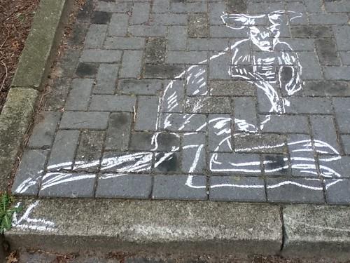 Chalk Kangaroo