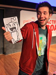 Reddit founder Alexis Ohanian with the Reddit ...