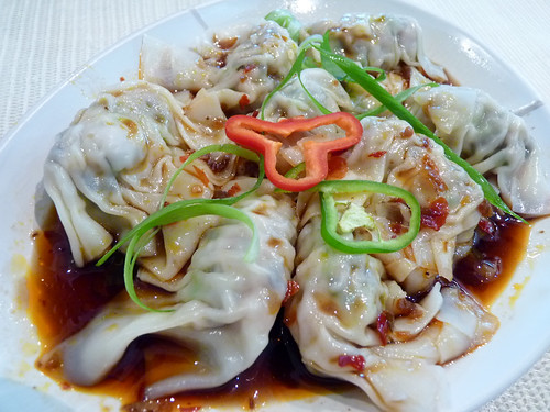 Dumplings with Black vinegar sauce at Zong