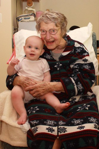 Grandmom and Lily