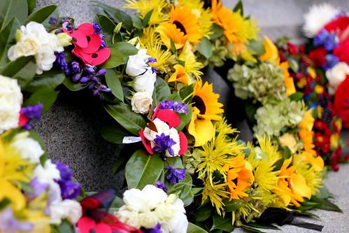Thursday: leftover ANZAC wreaths