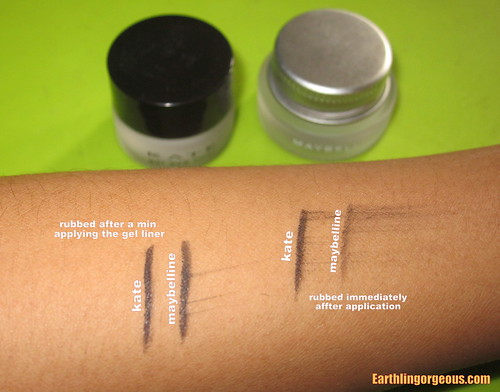 Kate Gel Eye Liner vs.  Maybelline Eye Studio Lasting Drama Gel Eye Liner