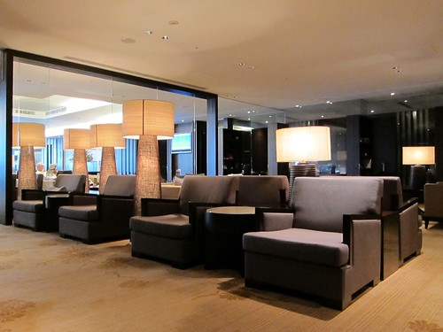 The main sitting area at Sakura First Class Lounge by bloompy