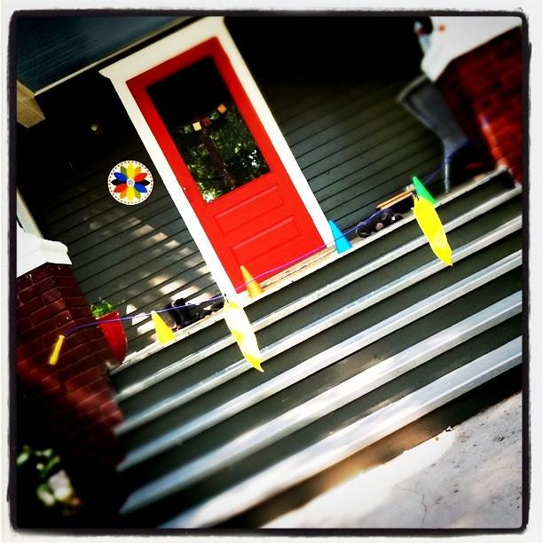 wet paint :: porch steps