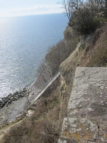 Trappen til vandet ved Stevns klint