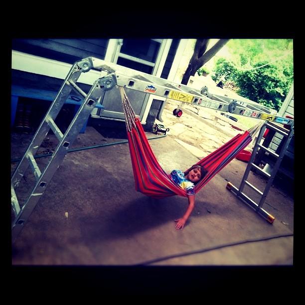 ladder hammock. for Jenny.