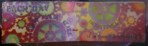 big girl's coloring book circle journal