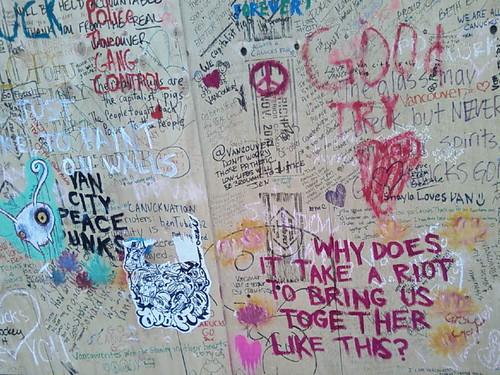 Riot Graffiti (Detail) by Karyn Ellis