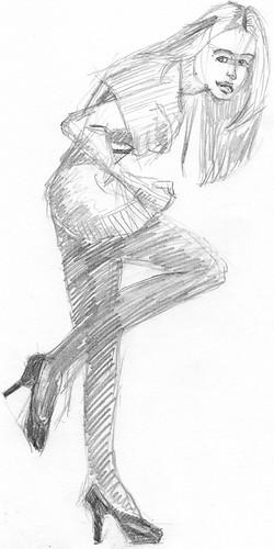 Clothed figure sketch 15 2011/06/12