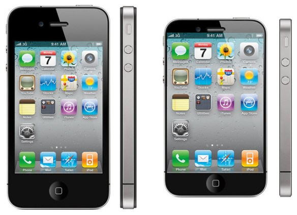 iPhone 5 vs iPhone 4 mockup