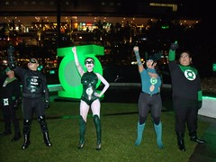 Green lantern cosplayers