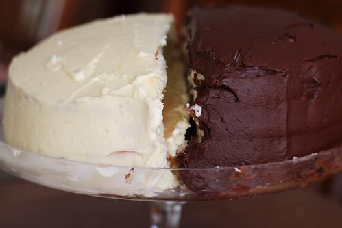lemon and chocolate doberge cake