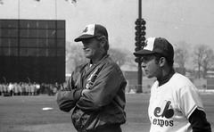 Rusty Staub et un autre joueur des Expos, 8 av...