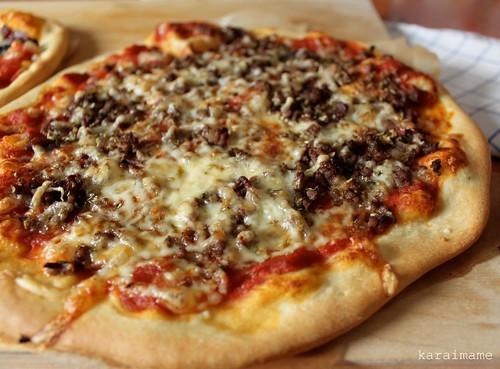 Jauheliha pizza - pizza