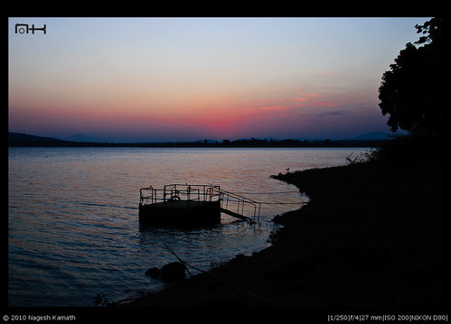 Sunset pier | Kabini