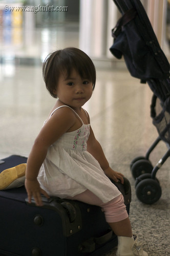 Lia at the HKIA, HK 2010