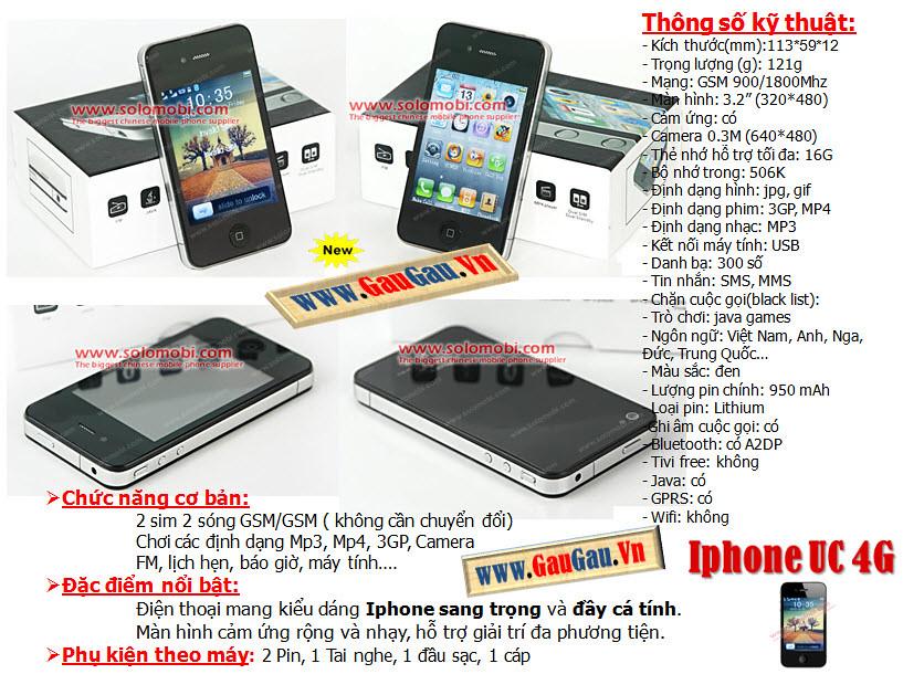 Điện Thoại 2 SIM 2 Sóng iPhone i9888 4G JAVA Hỗ trợ các chức năng giải trí đa phương tiện ( wifi, xem phim, nghe nhac, ...). Menu mang những icon đẹp mắt Chức năng nghe nhạc,Quay phim,chụp ảnh...Hỗ trợ Bluetooth,Java,Fm... xem phim MP4, 3GP, AVI,., Loại pin Li-Ion 1000mAh và được nhiều người chú ý nhờ thiết kế tinh tế