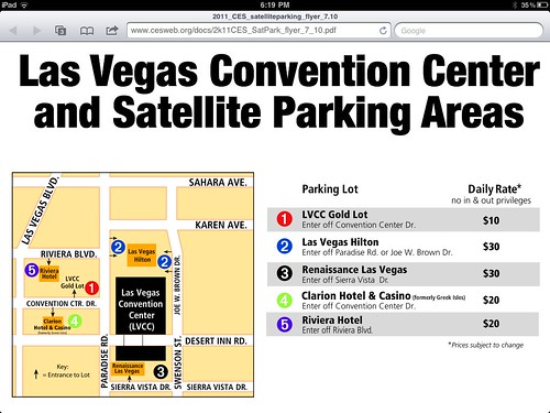 Ces 2011 Parking lot