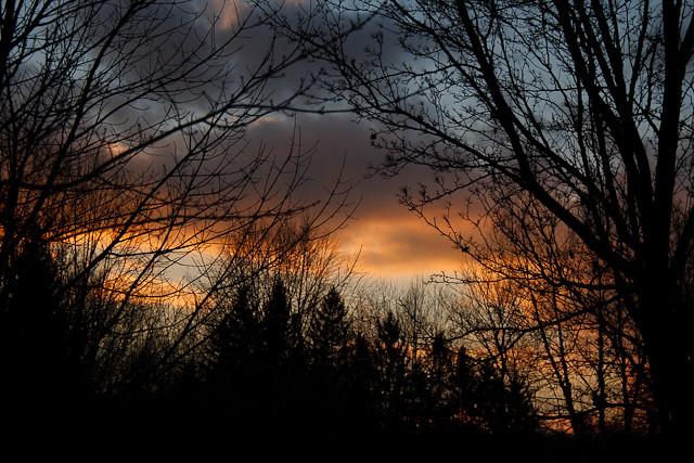 Orange Clouds at Dusk