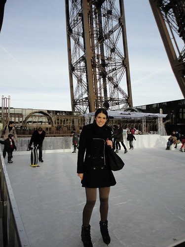 Ice Skating on Top of the Tour Eiffel