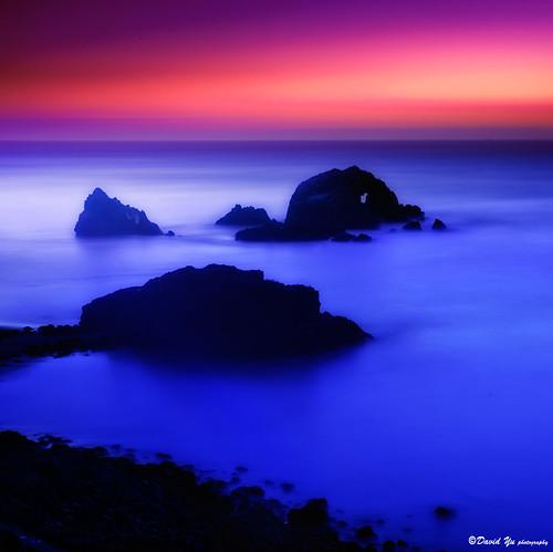 San Francisco Seal Rocks Long Exposure Study by davidyuweb