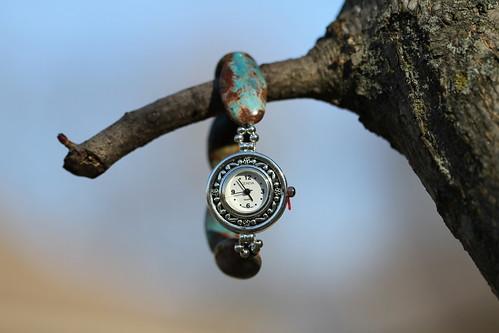 Blue Cal Silica Watch