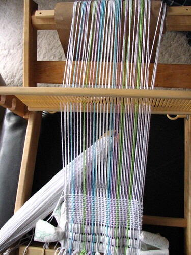 wonky weaving....unwoven and redone