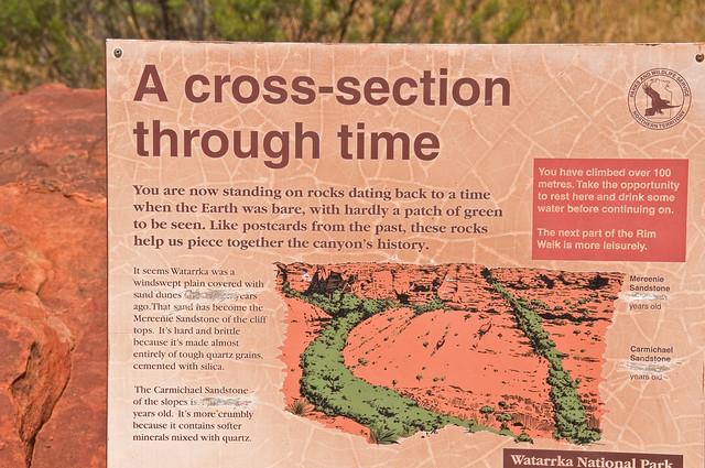 Geological information sign, corrected by creationist; ie information deleted, nothing added
