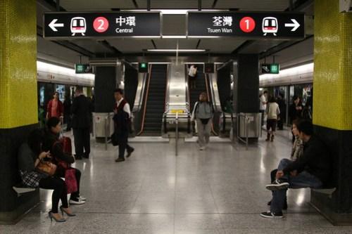 Platform level at Tsim Sha Tsui station