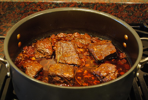 Short ribs after braising